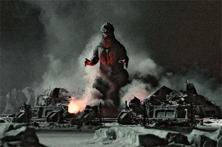 Yes a gratuitous Godzilla shot